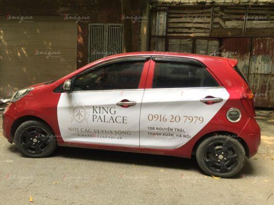 bất động sản king palace quảng cáo trên ô tô