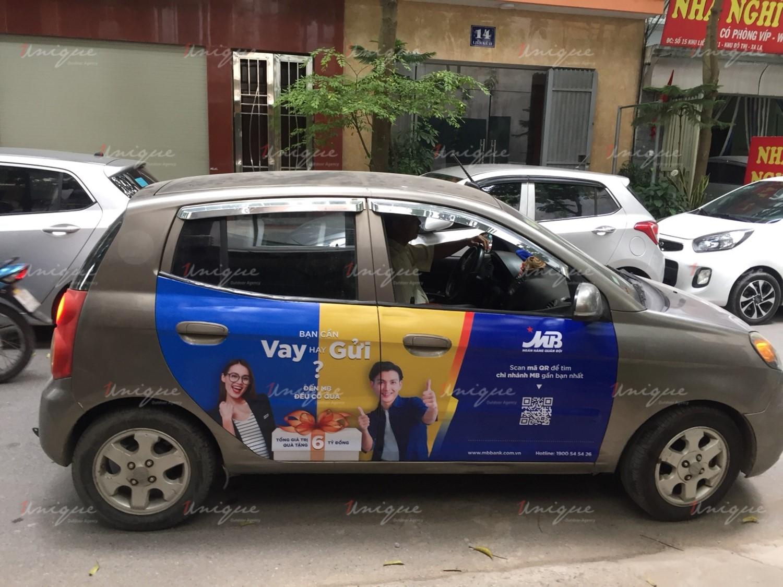 mmbank quảng cáo trên ô tô