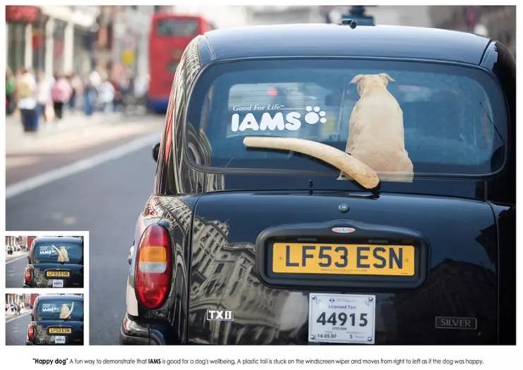 quảng cáo trên xe ô tô siêu sáng tạo