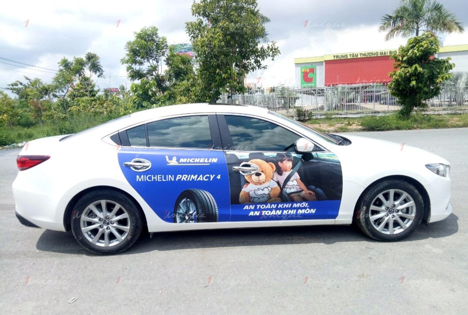 quy định dán quảng cáo trên xe ô tô