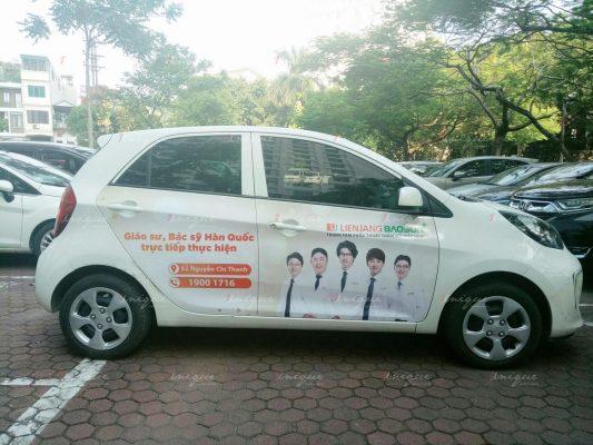 lienJang Bảo Sơn quảng cáo trên ô tô