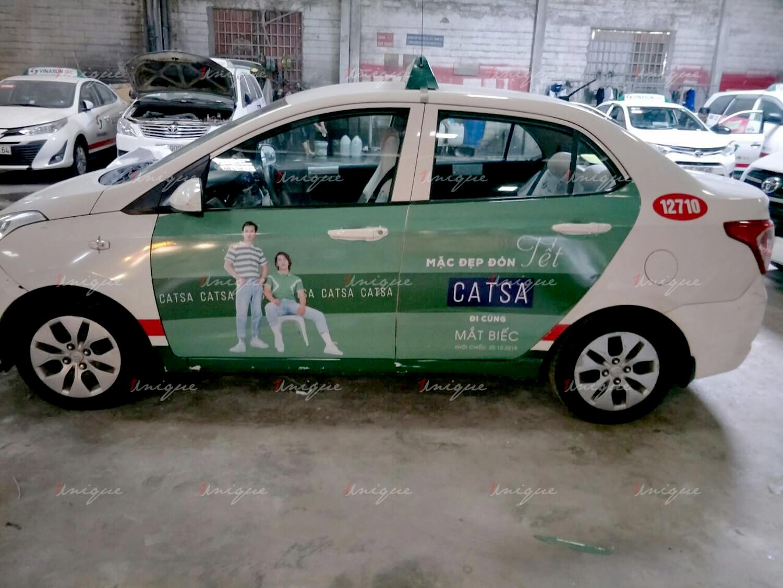 Dịch vụ quảng cáo trên taxi Vinasun của Catsa